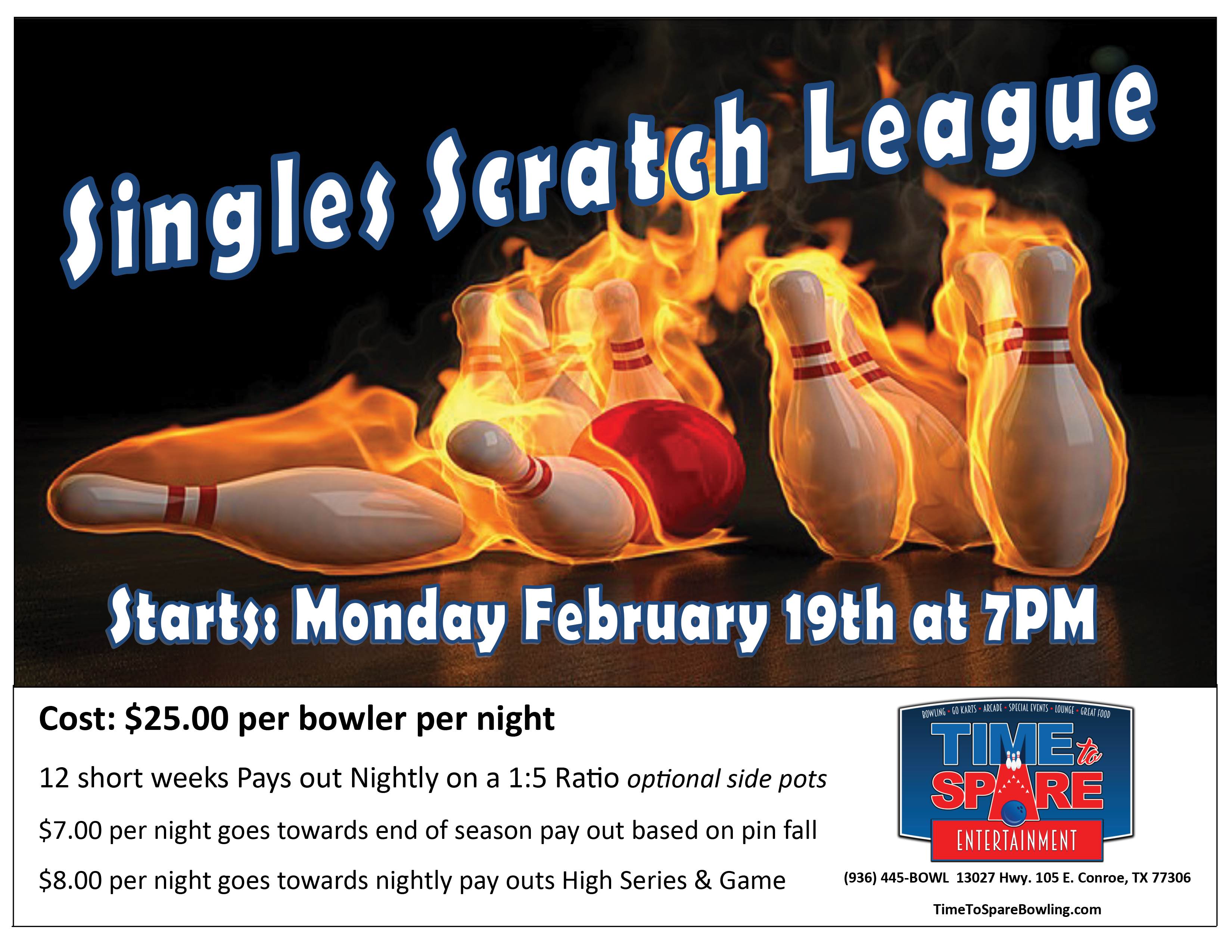 Singles Scratch League – Time to Spare Entertainment