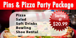 Pins and Pizza Party Package
